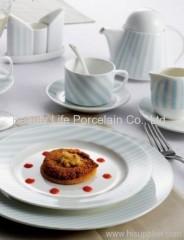 White porcelain plates