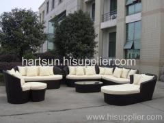 Outdoor PE rattan furniture sofa set