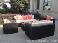PE rattan patio sofa furniture