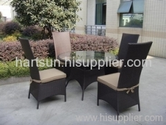 Outdoor furniture table and chair