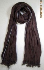 cotton rumpled woven scarf