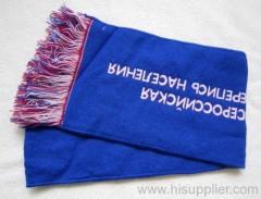 cotton jacquard woven scarf