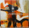 hand made abstract animal oil painting on promotion
