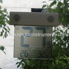 solar window thermometer; solar thermometers