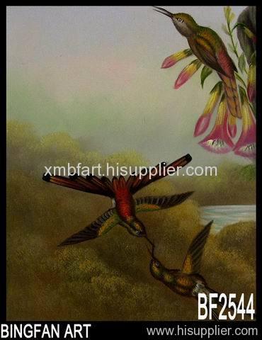 Xiamen bird oil painting
