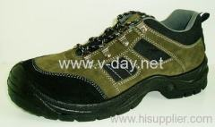 khaki suede leather safety footwear