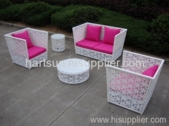 Wicker sofa set garden furniture