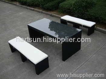 Garden furniture patio wicker bar set