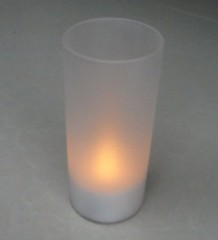 Glass candle holder tealight