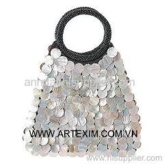 Mother of Pearl Handbag, Mop Handbag, Shell Handbag, evening Handbag, Shoulder Handbag, abalone handbag