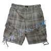 Cargo Shorts with Checked Print