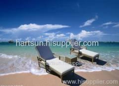 Outdoor furniture rattan garden lounger chair