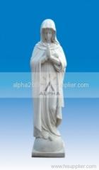 marble carved pilgrim virgin mary/modonna