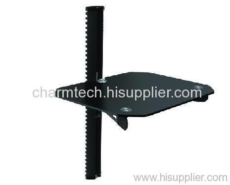Black Glass Aluminum Tube DVD Player Bracket