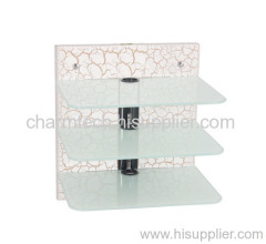3 Shelf Clear Tempered Glass DVD Player Mount