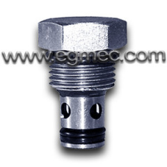3/4-16UNF Hydraulic Cartridge Valve, Poppet Spool Sealing