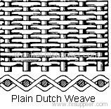 plain dutch weave filter cloth