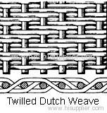 twill dutch weave filter cloth