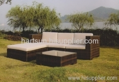 Outdoor wicker furniture PE rattan sofa set