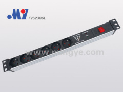 French PDU with surge protector