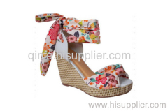 PRINTCLOTH WEDGE SANDAL