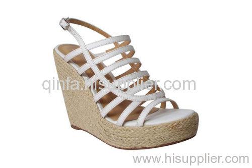 multi-strap wedge sandals