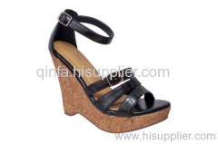 MULTI-STRAP WEDGE SANDAL