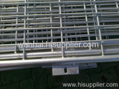 framed welded mesh fence