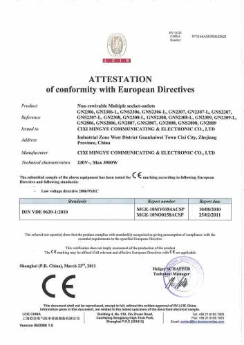 CE Certificate (23&28 Series German PDU )