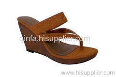 strapped wedge sandal