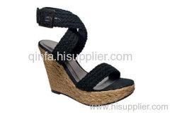 braid wedge sandal