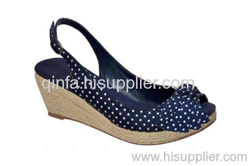 fabric wedge sandal