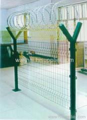 Y shape fence steel post