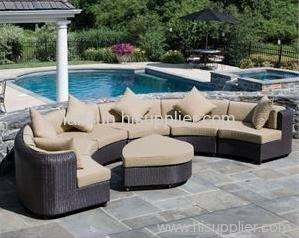 Garden furniture rattan wicker sofa set