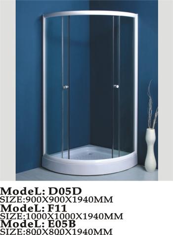 Top shower simple shower room