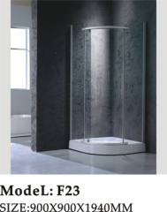 low based sectorial tray shower room