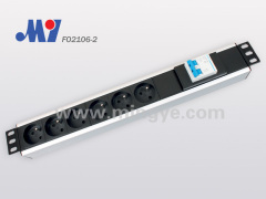 6 ways double air switch pdu