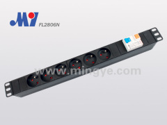 1U standard French PDU socket