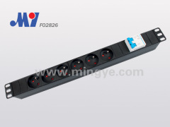 6 ways French type PDU