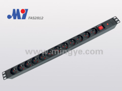 12 ways French PDU socket with switch