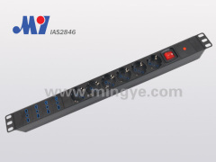 10 ways Italian PDU with Aluminium alloy shell