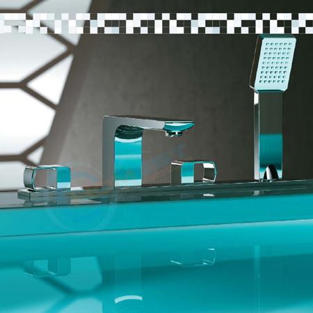 Dual knobs Bath shower mixer