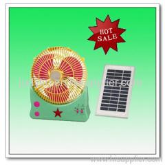 """10"""" Rechargeable solar Desk Fan W/Lights"""