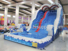 wavy inflatable water slide