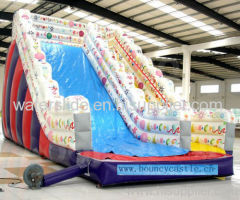 printing flower inflatable huge slide