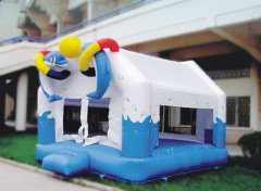 cute dolphines inflatable jumping house