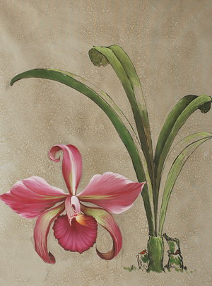 Simple Pink Flower Oil Painting