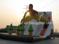 snow man inflatable slide