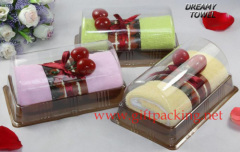 Cherry Steamed Bread Roll Towel Cake