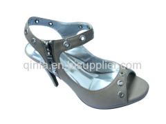 peep toe high heel